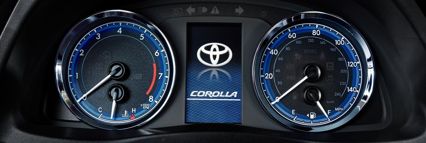 Instrument Cluster in the 2019 Corolla