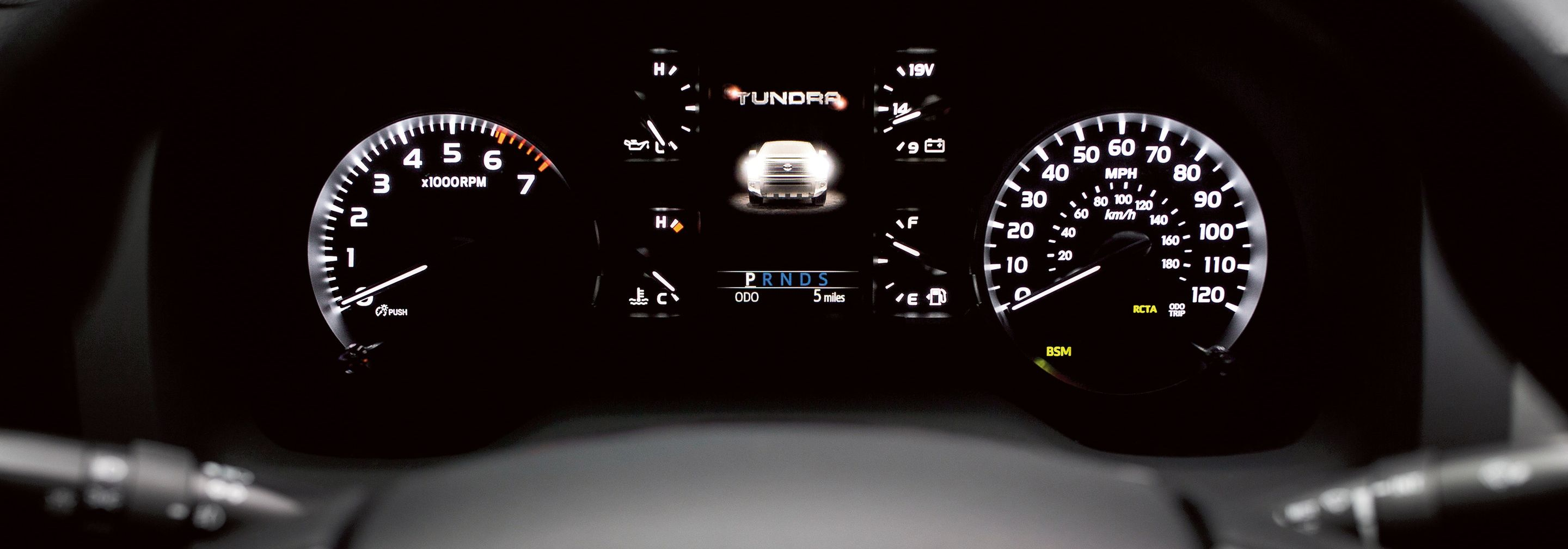 Instrument Cluster of the 2019 Tundra