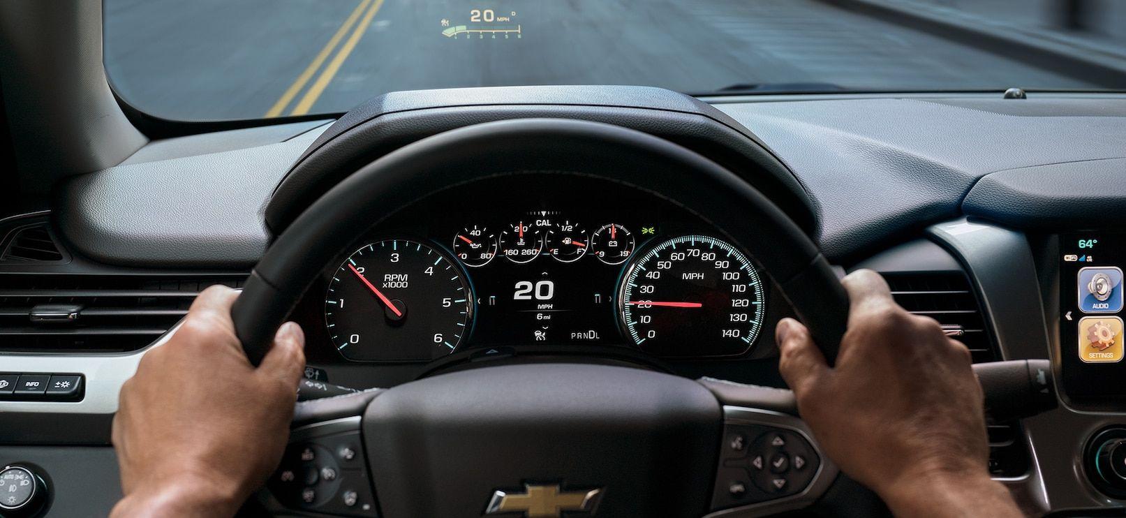 Steering Wheel of the 2019 Tahoe