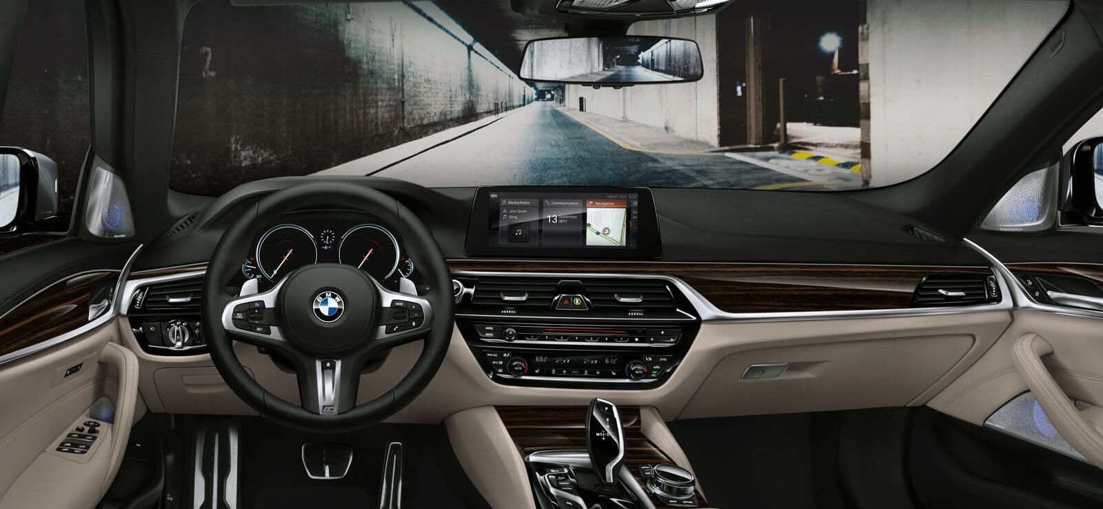 Striking Interior of the BMW 5 Series