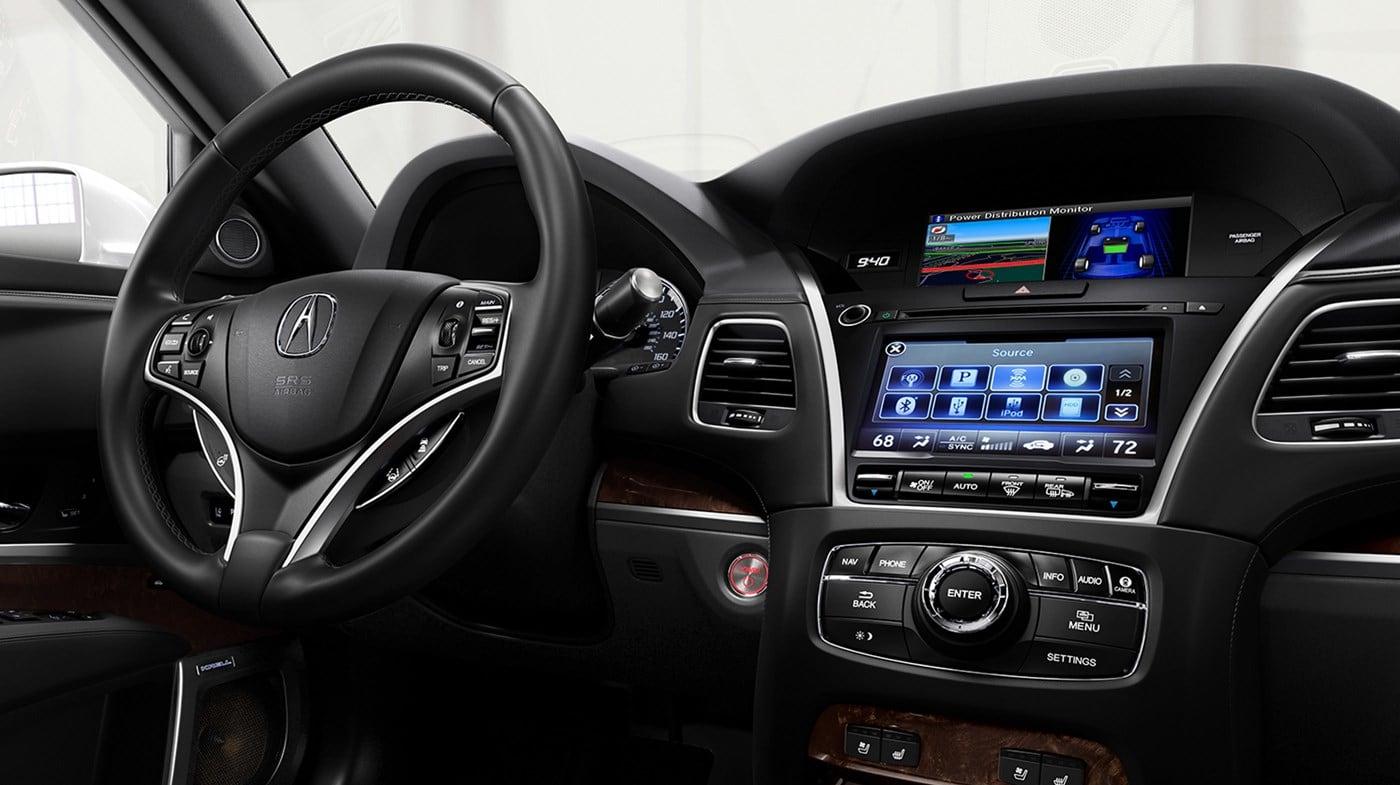 Interior of the 2019 Acura RLX