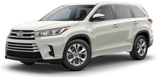 Zero Money Down Lease on a Toyota Highlander SUV