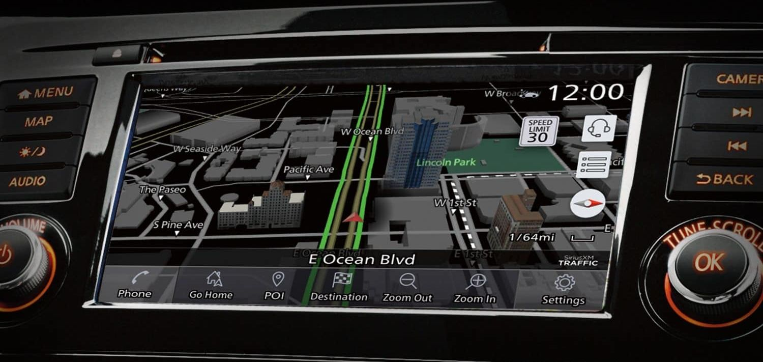 Navigation in the 2019 Rogue Sport