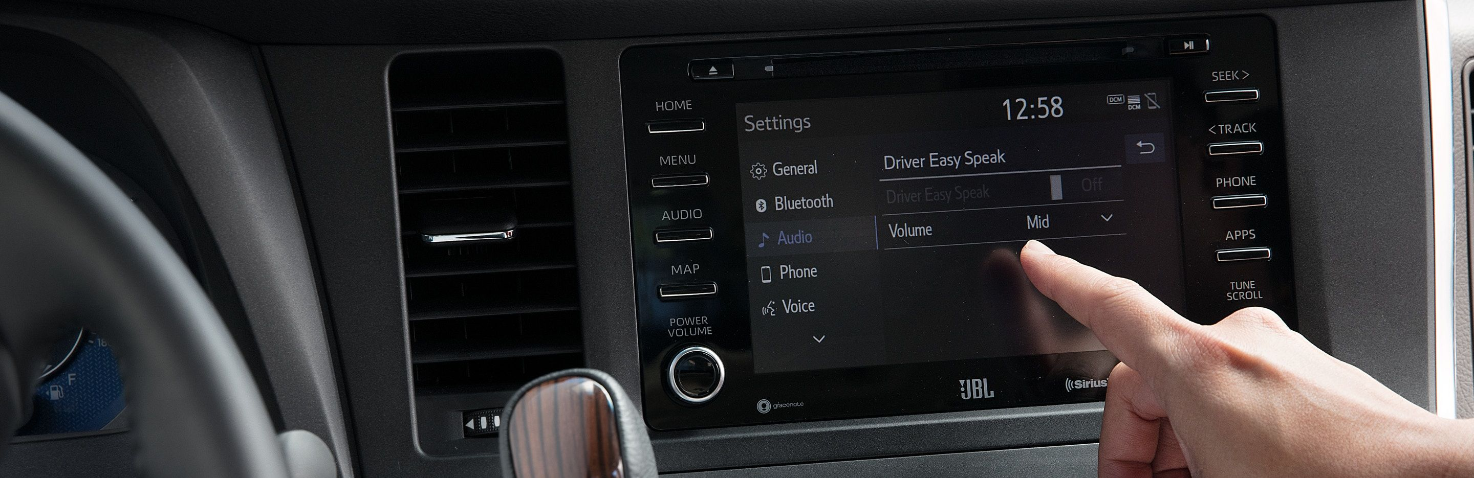 Driver Easy Speak in the Toyota Sienna