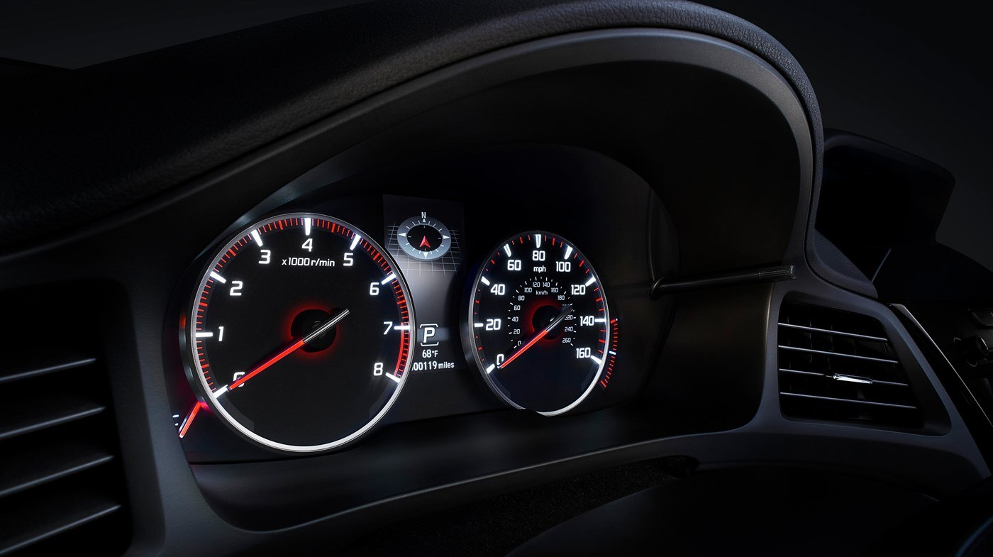 Instrument Cluster of the 2019 ILX