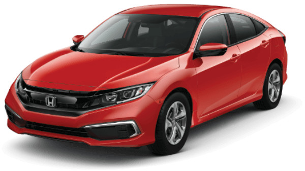 Rallye Red 2019 Honda Civic LX CVT