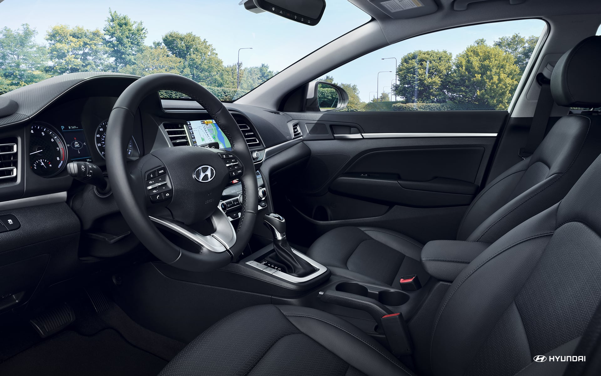 Interior of the 2019 Hyundai Elantra