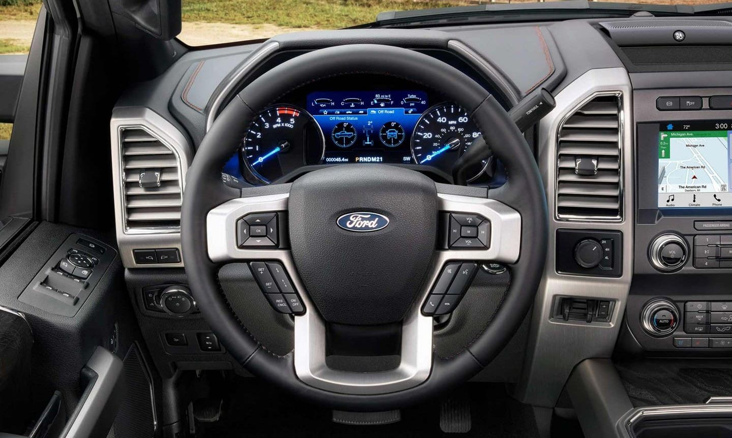 Steering Wheel of the 2019 Ford F-250 Super Duty