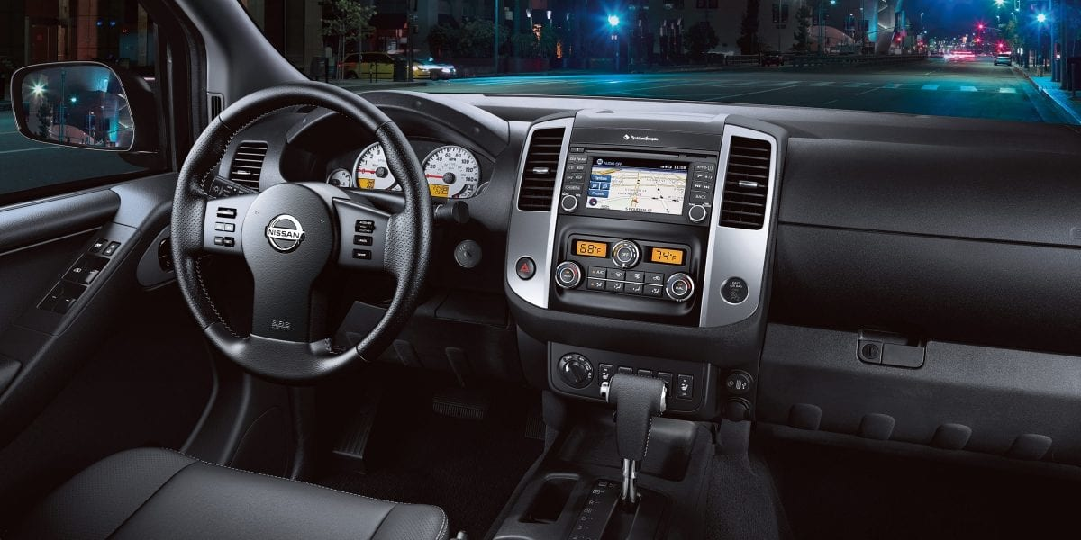 Interior of the 2019 Nissan Frontier