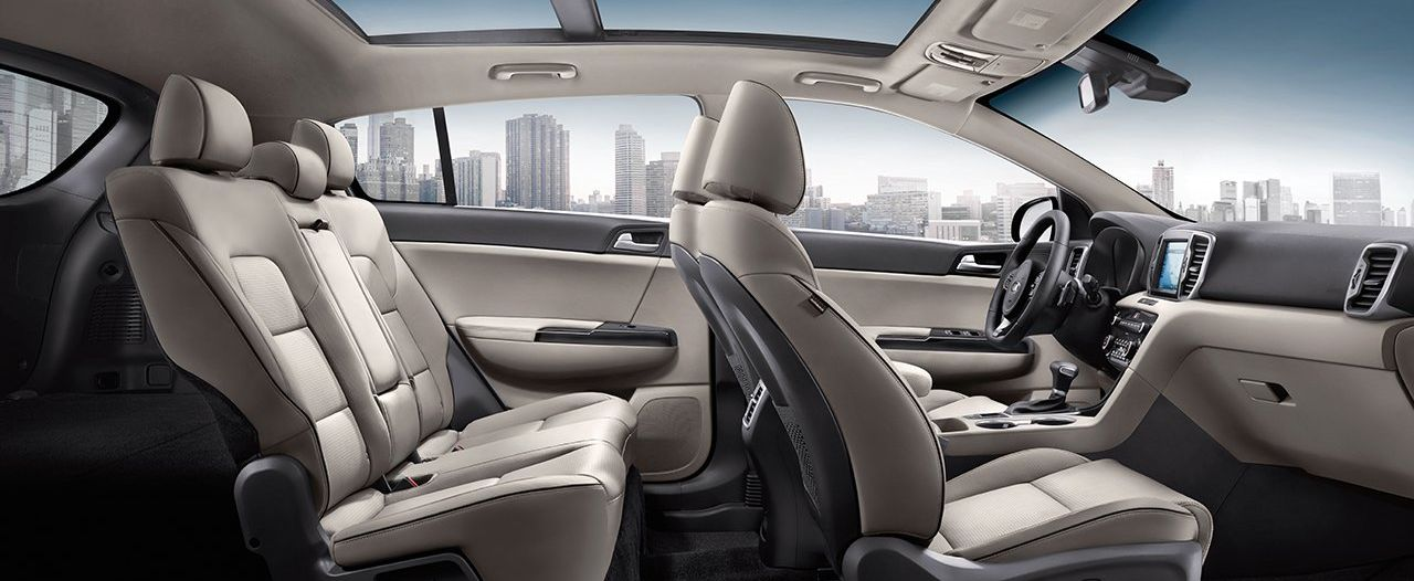The Secure, Spacious Cabin of the Sportage