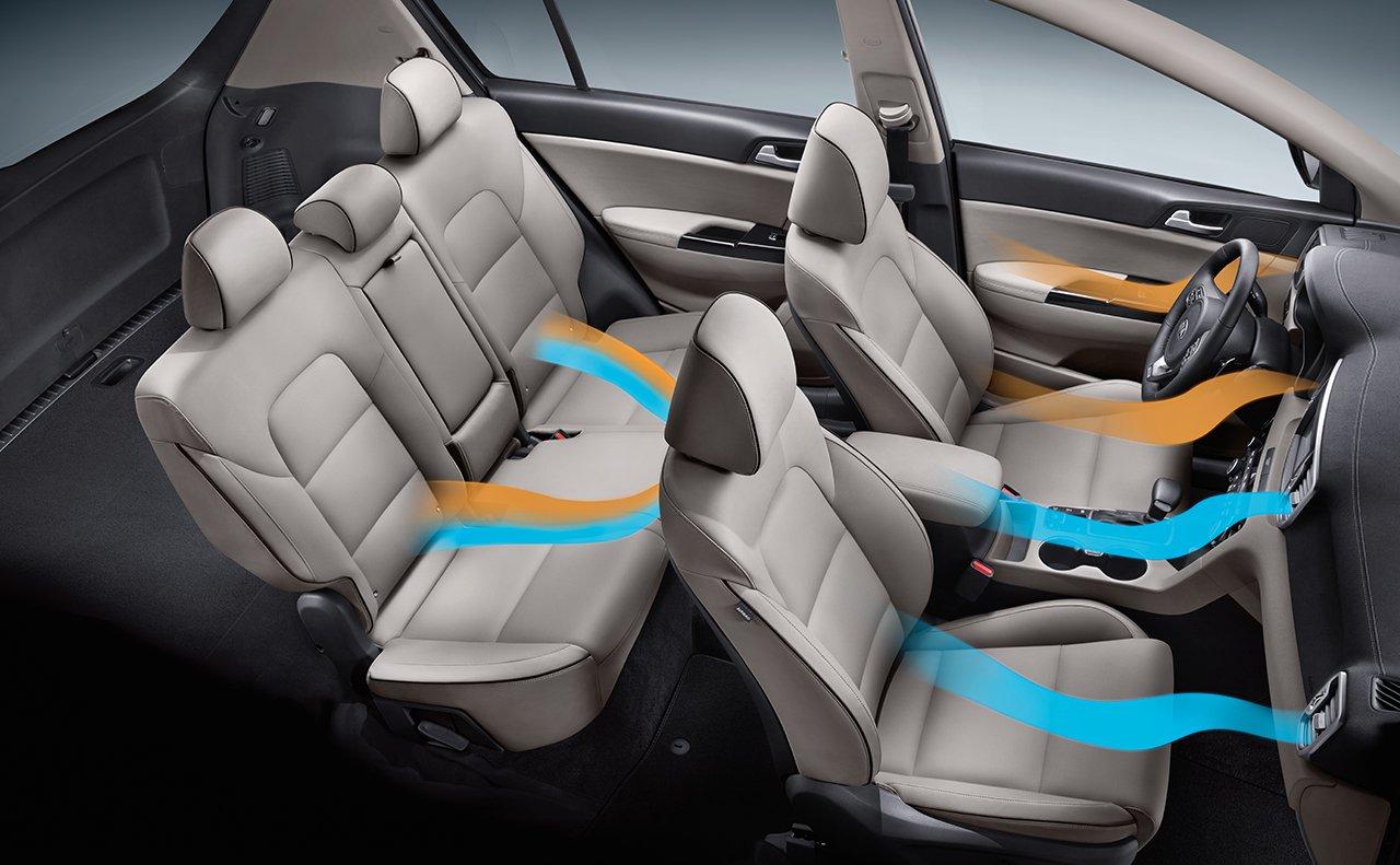 Interior of the 2019 Kia Sportage