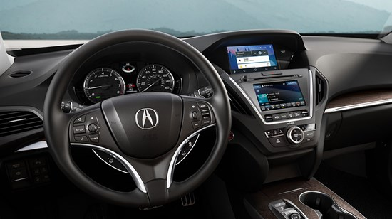 Interior of the 2019 Acura MDX