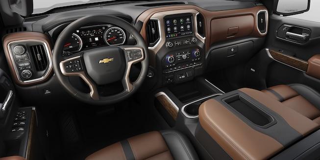 Cab of the 2019 Silverado 1500