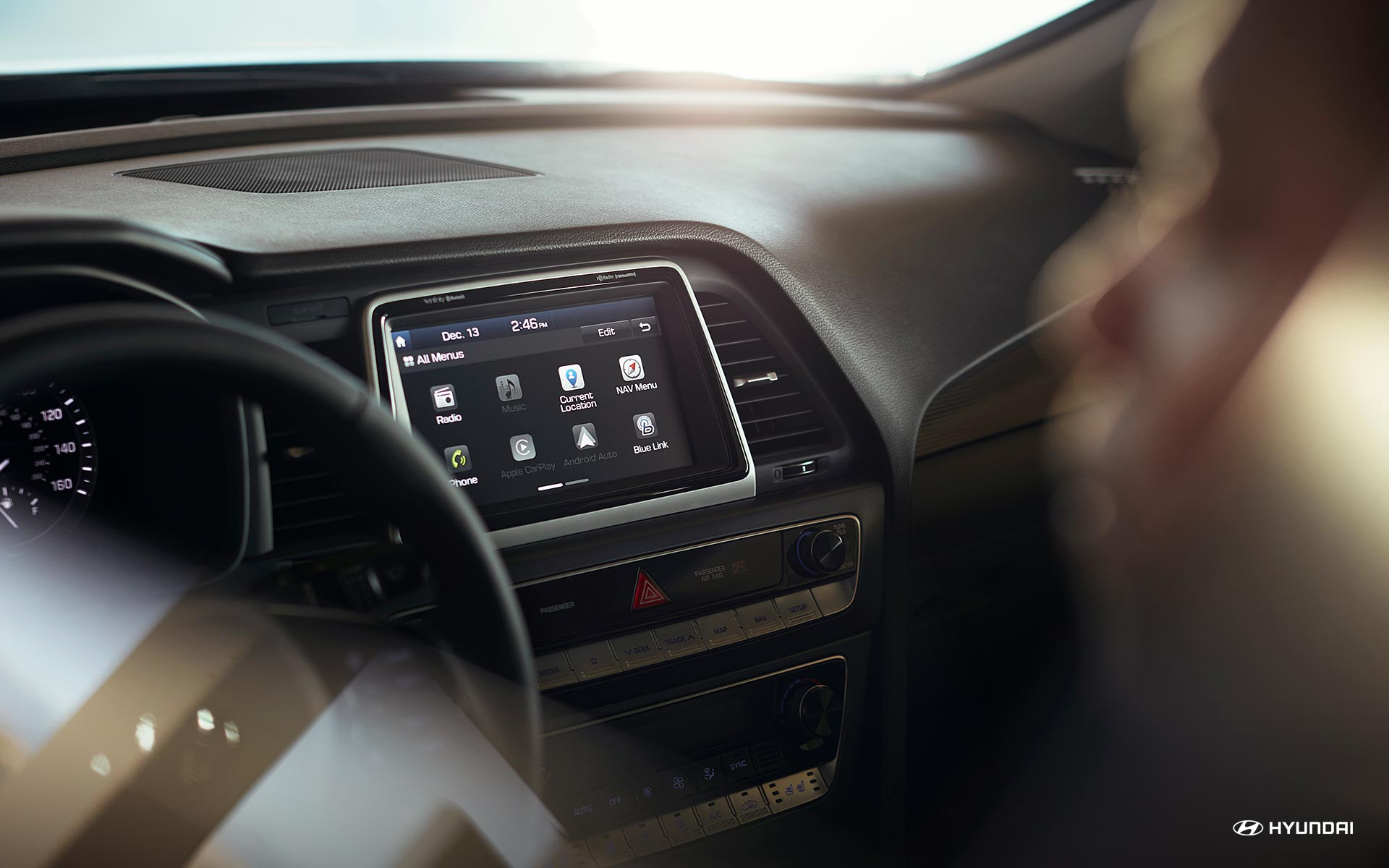 Touchscreen Display in the 2019 Hyundai Sonata