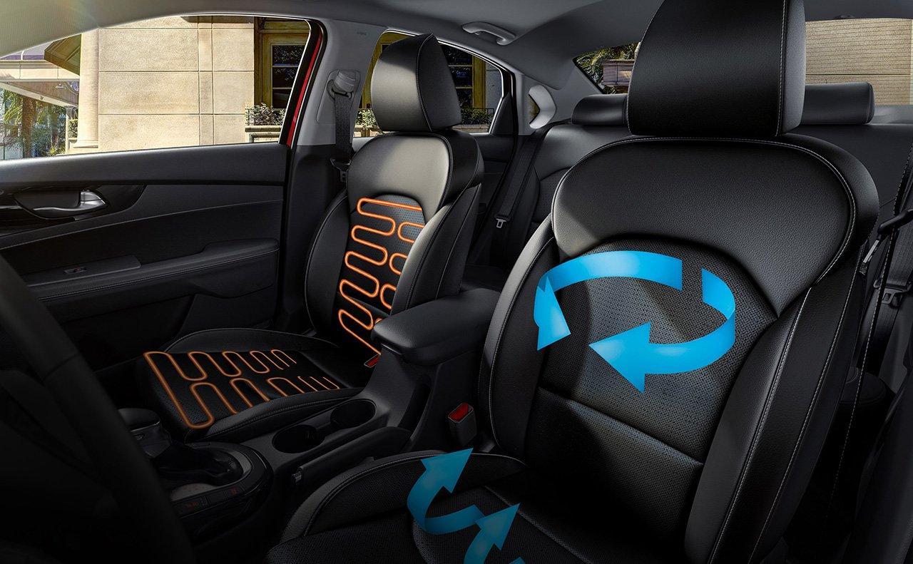 Interior of the 2019 Kia Forte