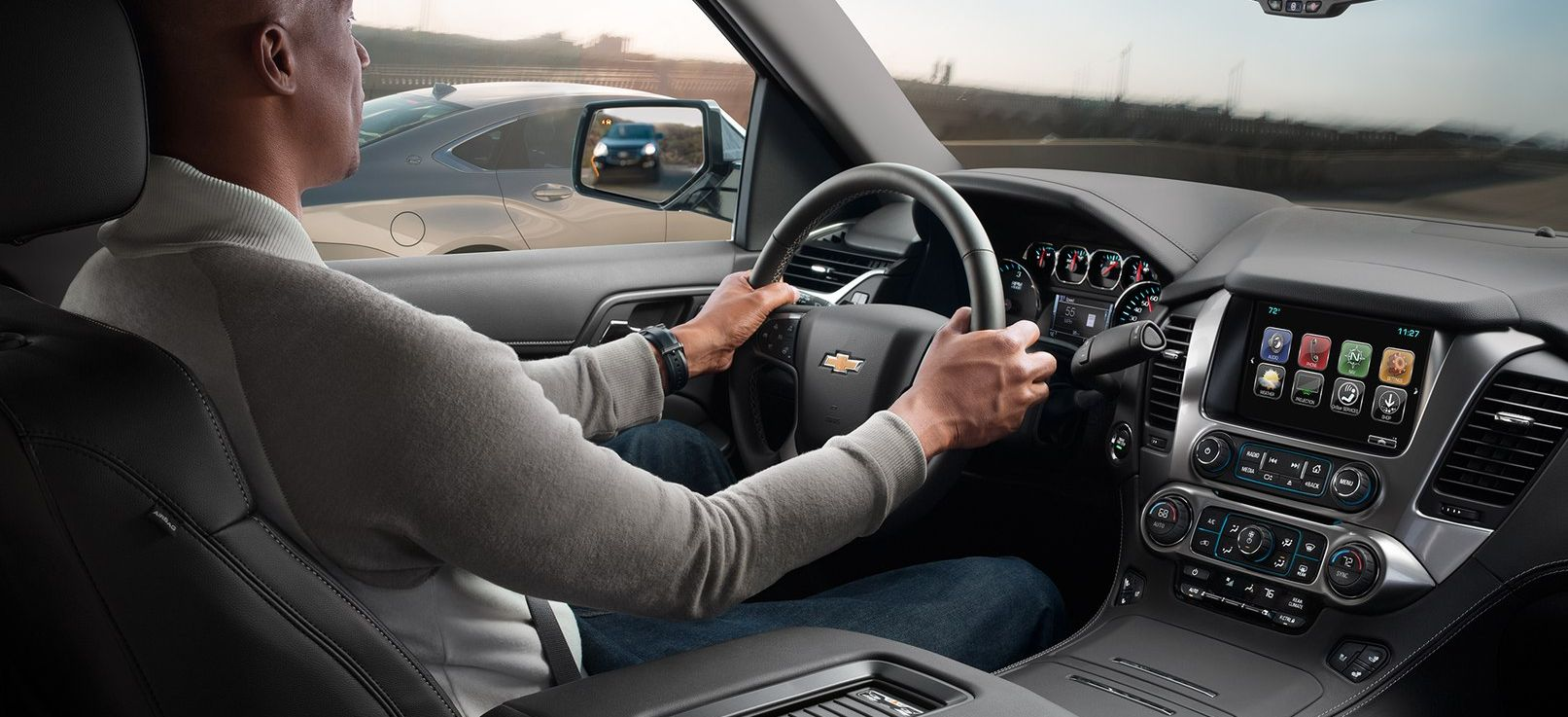 Interior of the 2019 Chevy Tahoe