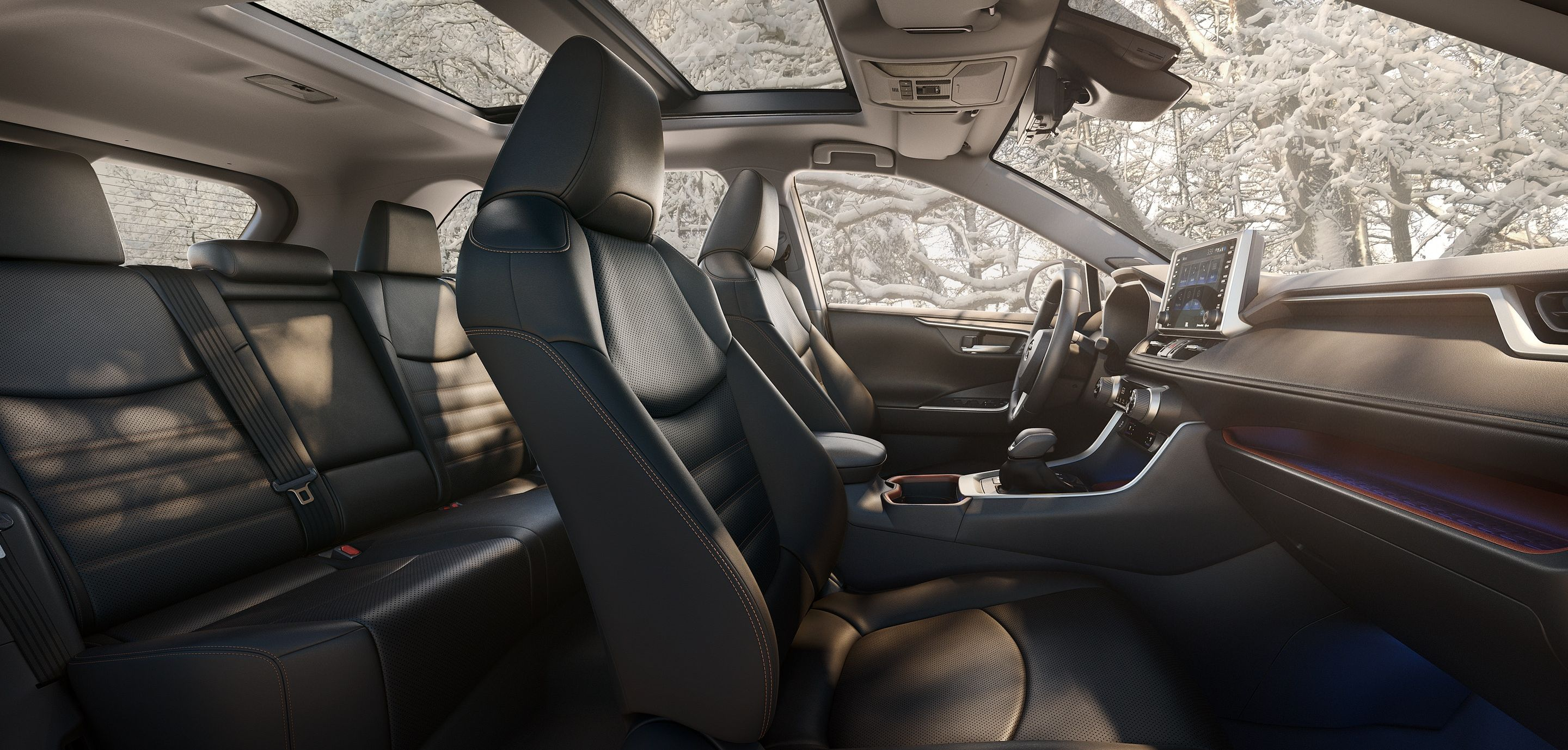 The Spacious Cabin of the RAV4