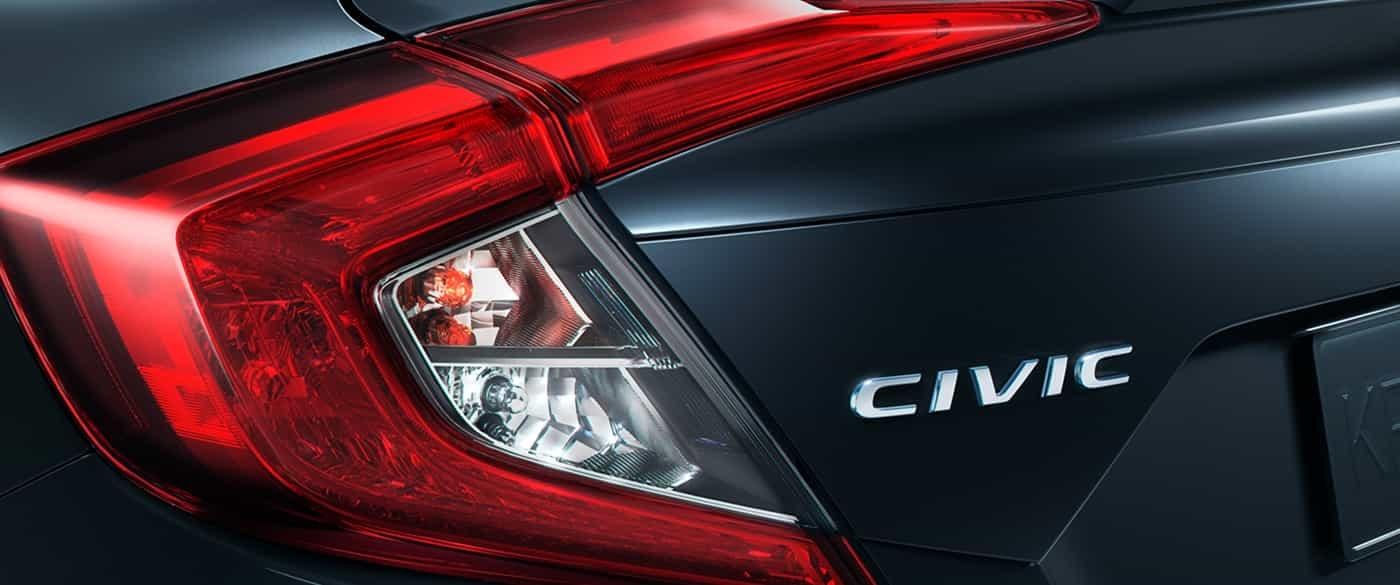 """Luces traseras LED con diseño en """"C"""" del Honda Civic 2019"""