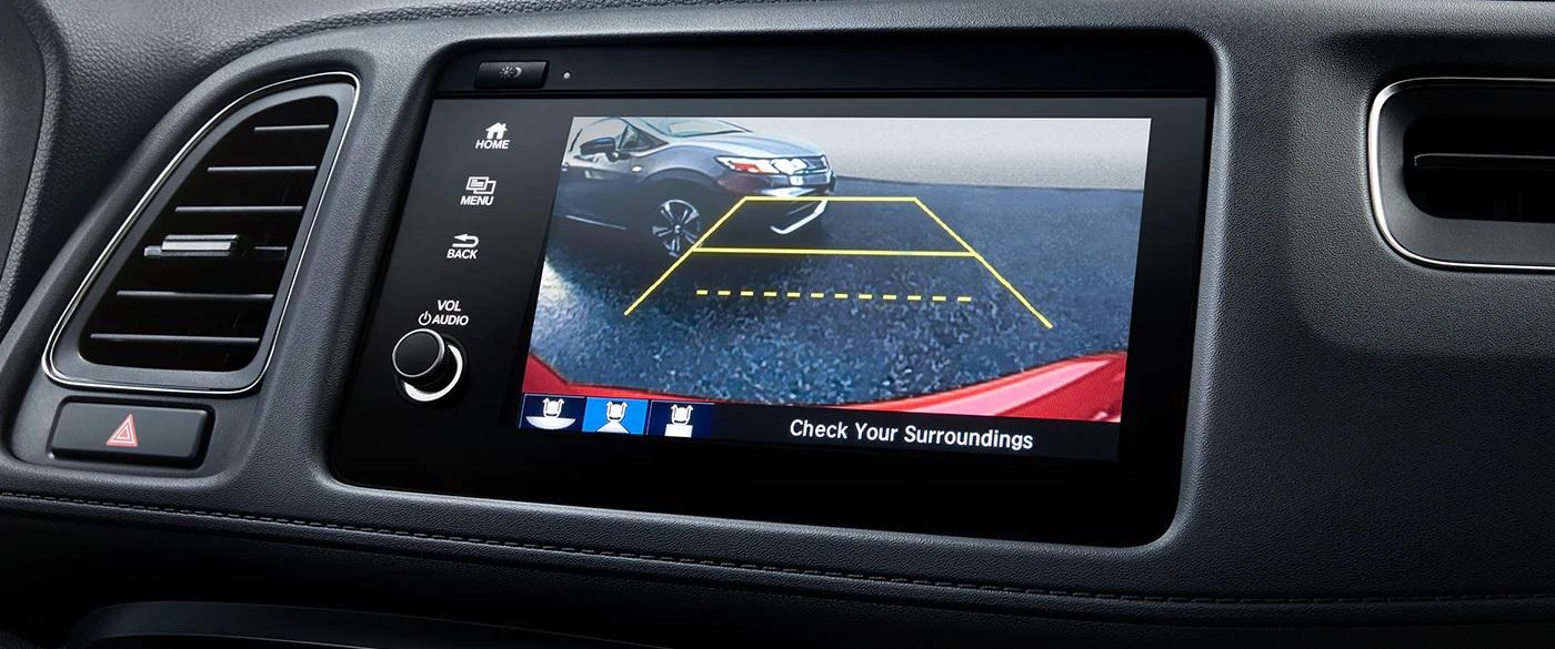 Cámara de visión trasera multiángulo opcional en la Honda HR-V 2019