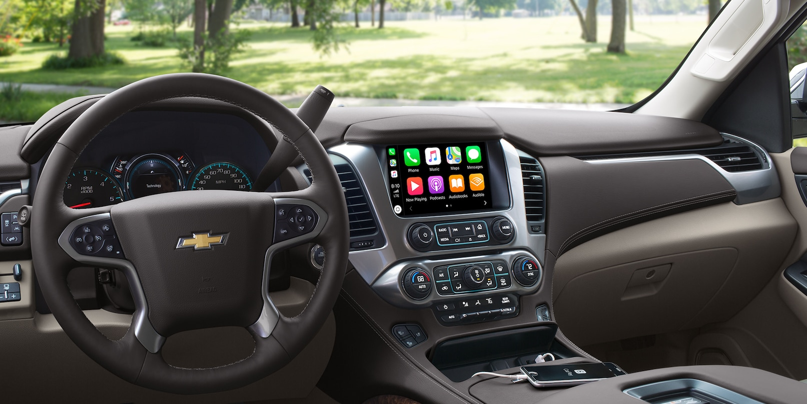 Interior of the 2019 Chevrolet Tahoe