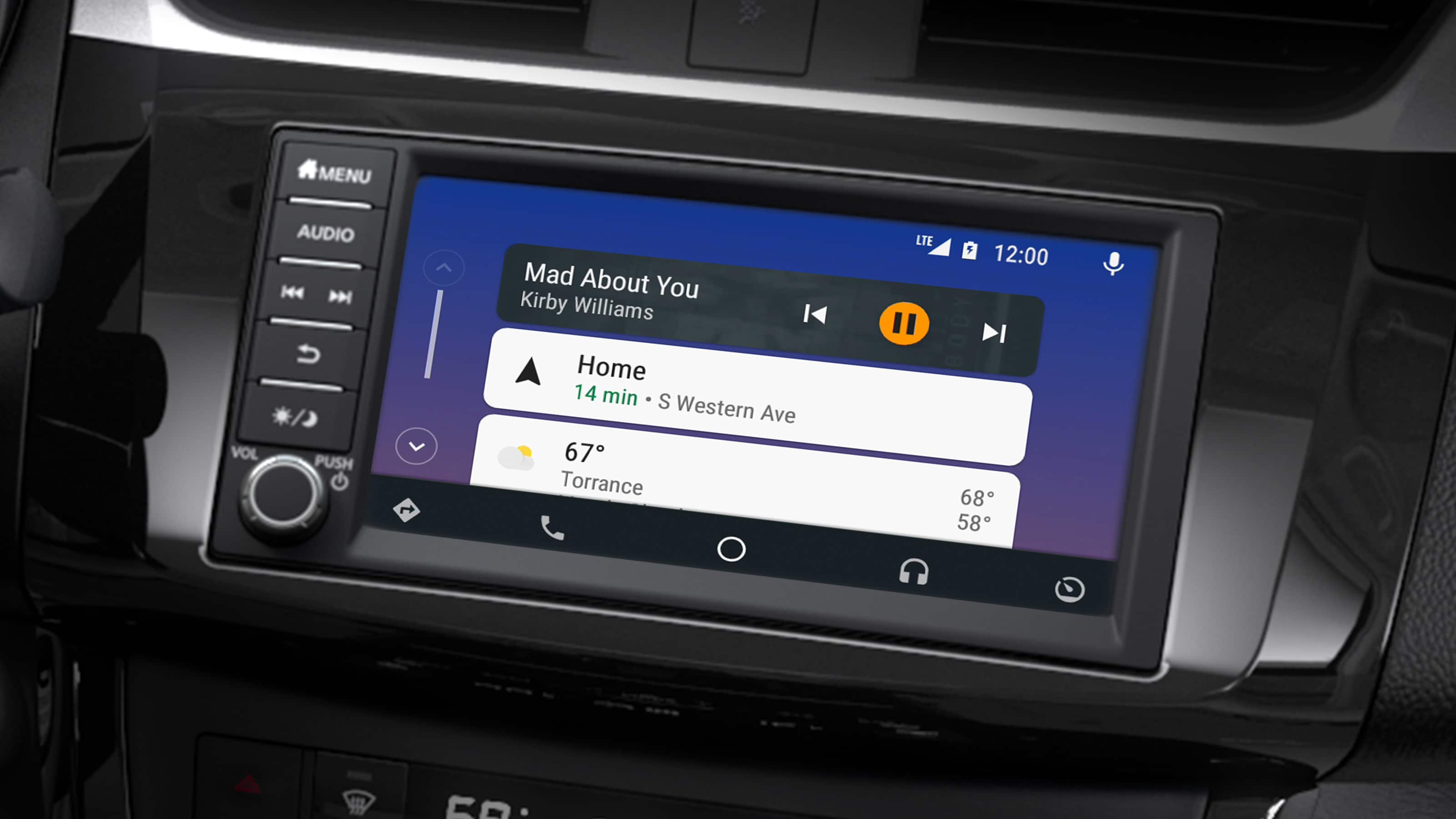 Touchscreen Display in the 2019 Nissan Sentra