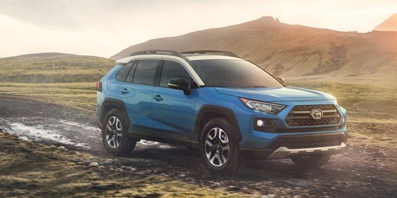 Blue 2019 Toyota RAV4