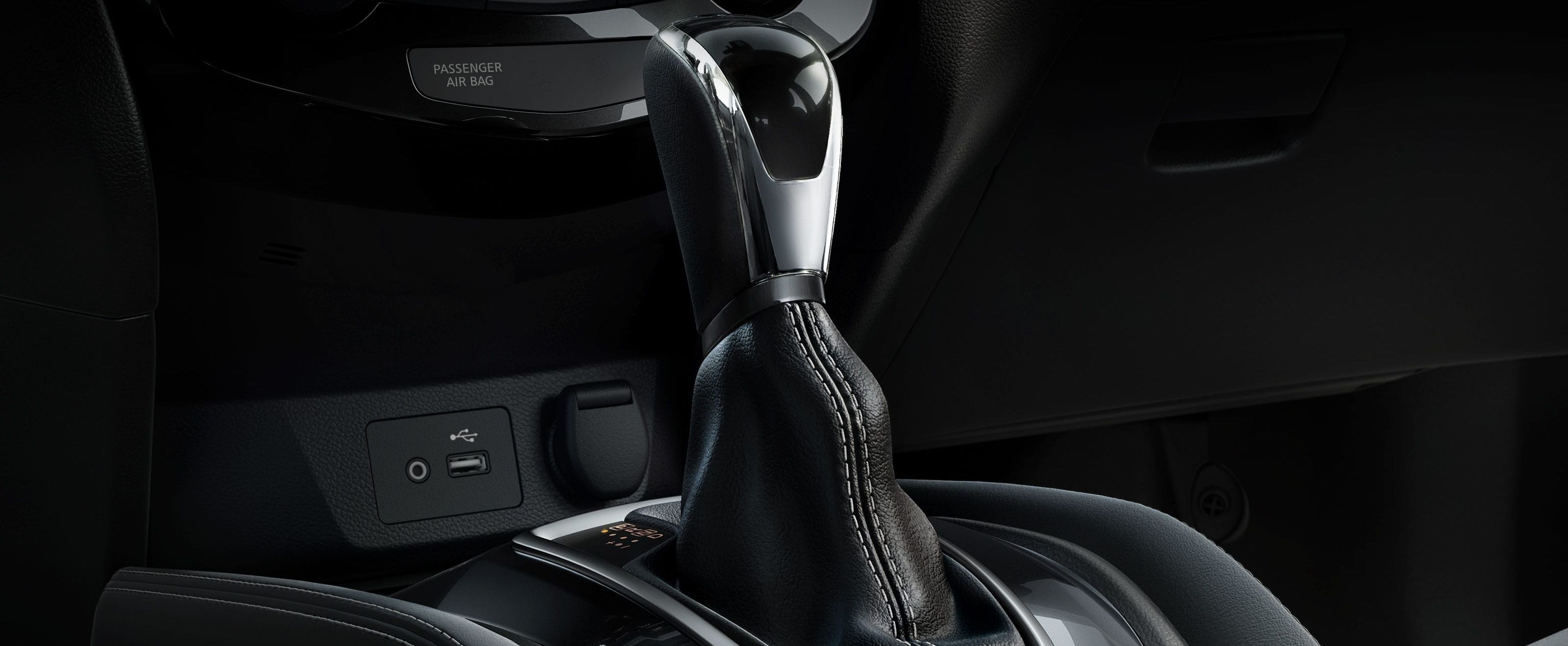 Leather Shift Knob in the 2019 Rogue