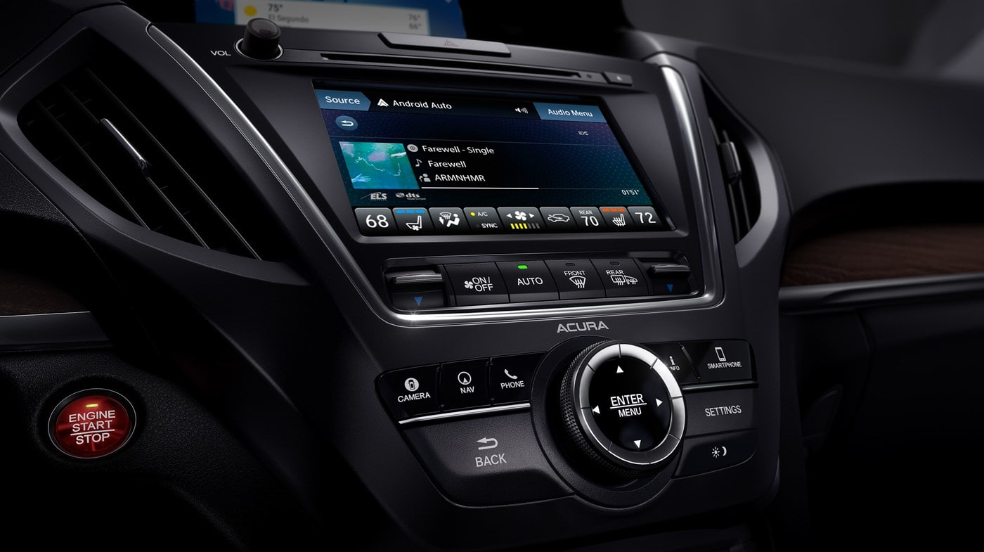 Touchscreen Display in the 2019 Acura MDX