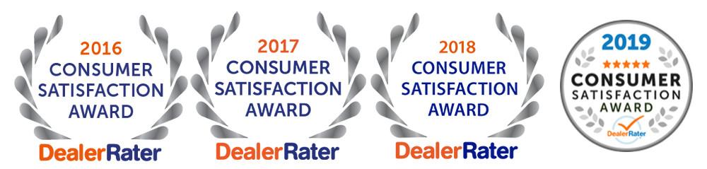 DealerRater Consumer Satisfaction Awards, DealerRater Certified Dealership