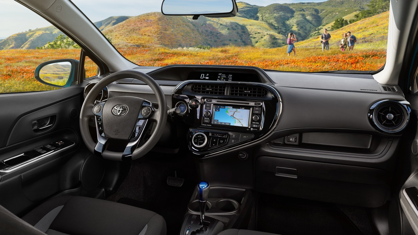 Interior of the 2019 Toyota Prius c