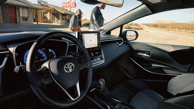 Interior of the 2019 Toyota Corolla Hatchback