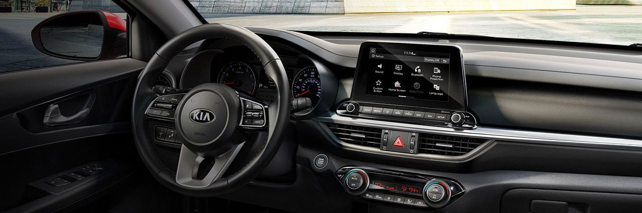Interior of the 2019 Forte