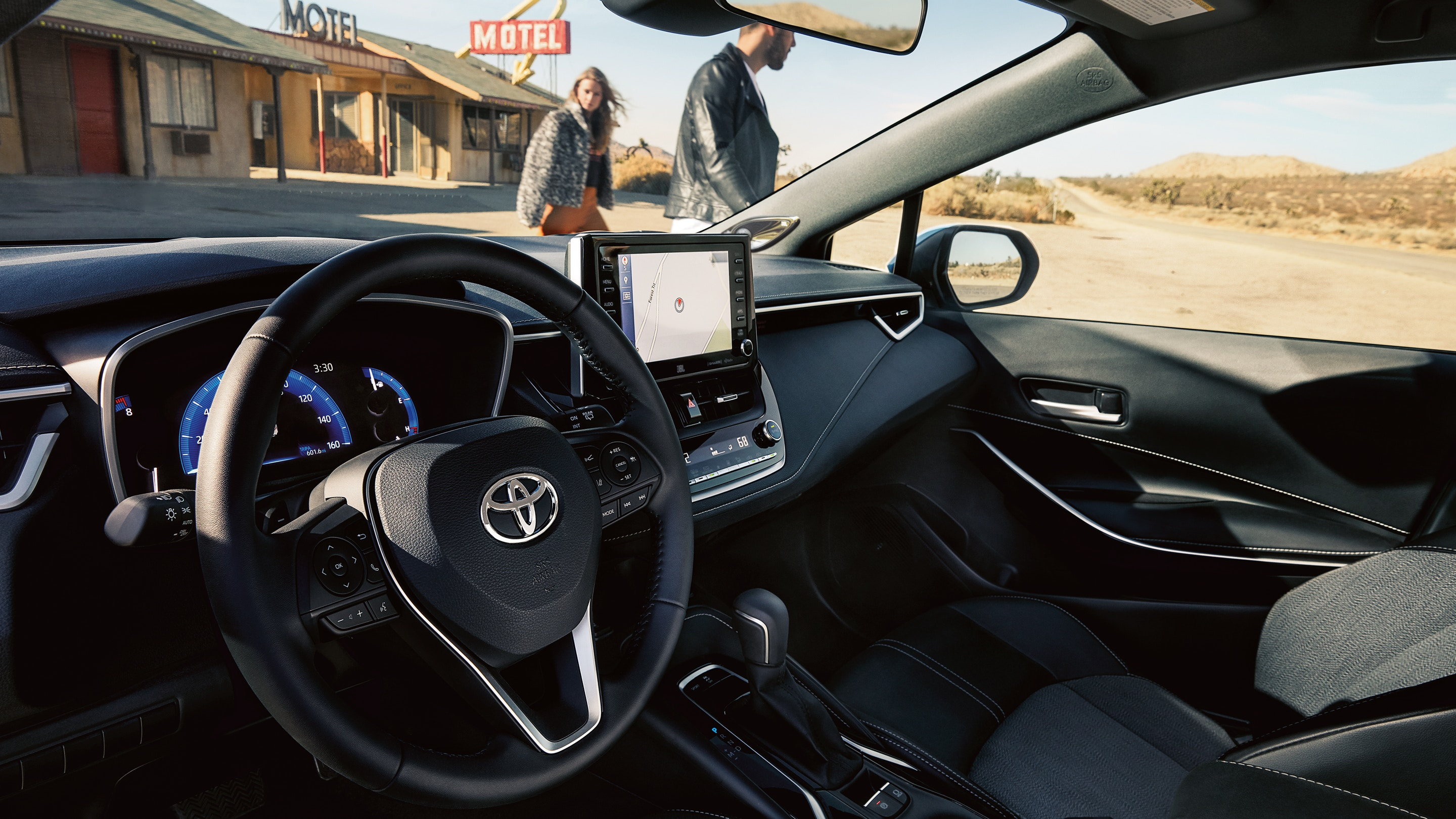 Interior of the 2019 Toyota Corolla Hatchback