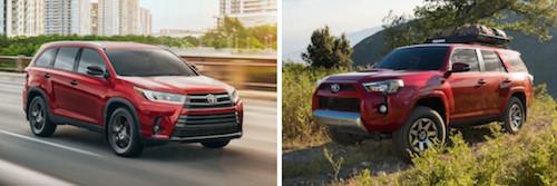 2019 Toyota Highlander vs Toyota 4Runner