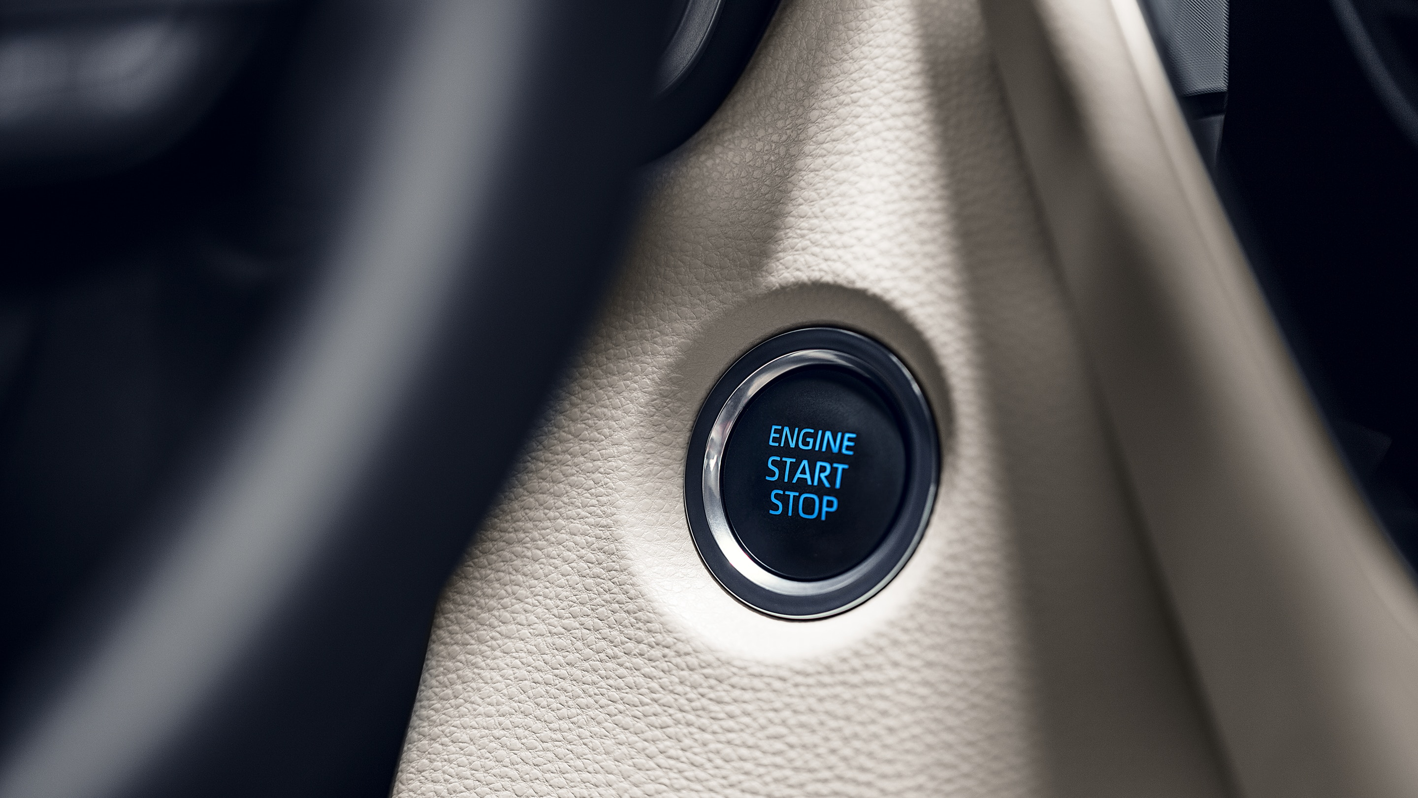 Turn the Corolla Hybrid on with Just a Press!