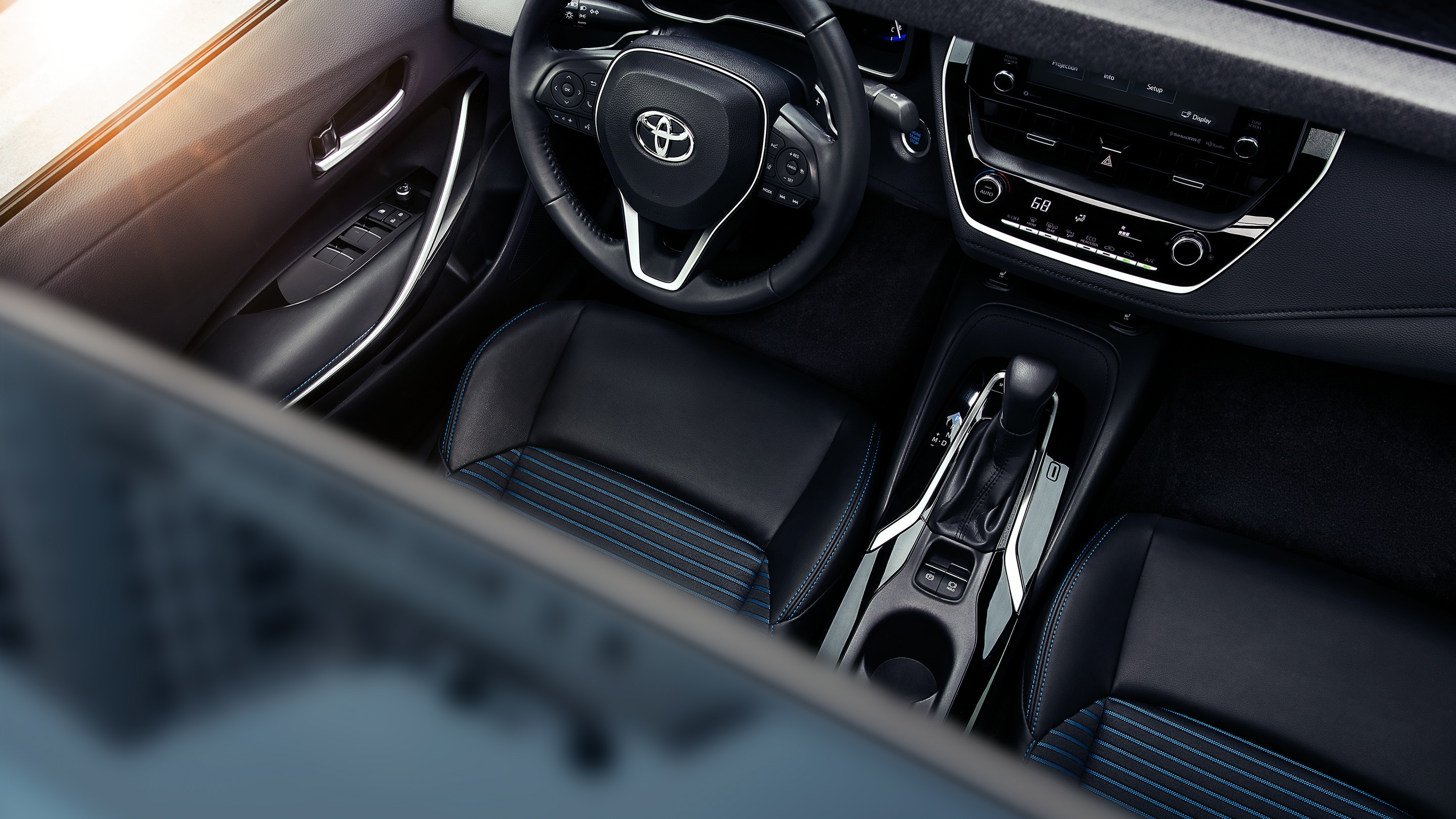 Interior of the 2020 Toyota Corolla Hybrid