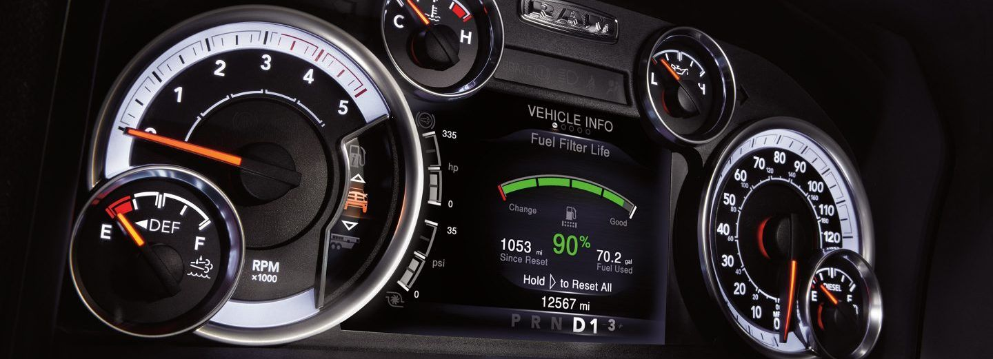 Instrument Cluster in the 2019 Ram 2500