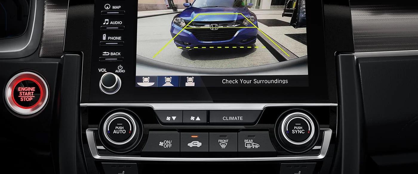 Cámara de visión trasera multiángulo del Honda Civic 2019