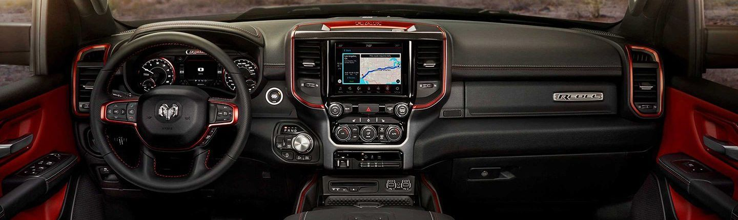 Front Dash of the 2019 1500