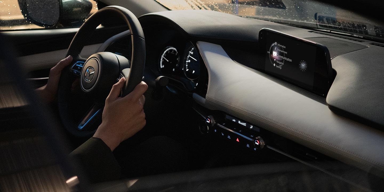 Interior of the 2019 Mazda3