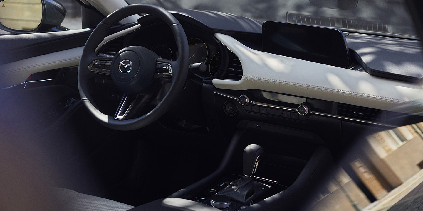 Interior of the 2019 Mazda3