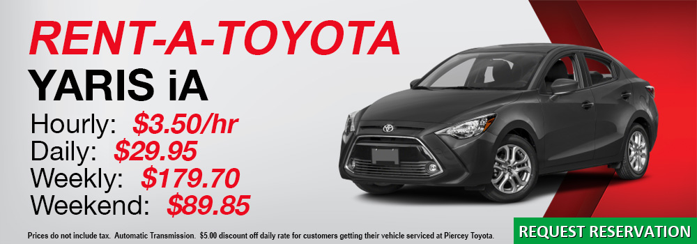 Rent a Toyota Yaris