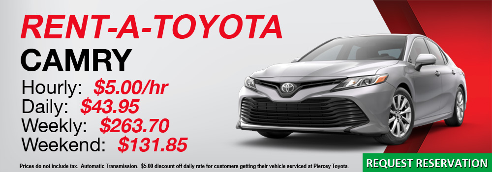 Rent a Toyota Camry from Piercey Toyota in Milpitas