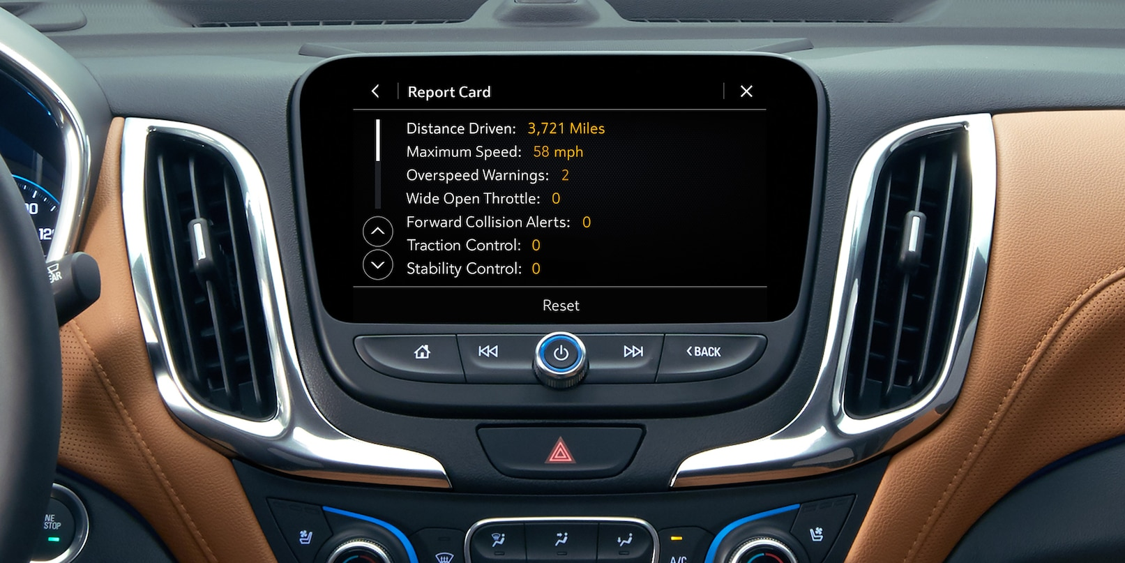 Touchscreen Display in the Chevrolet Equinox