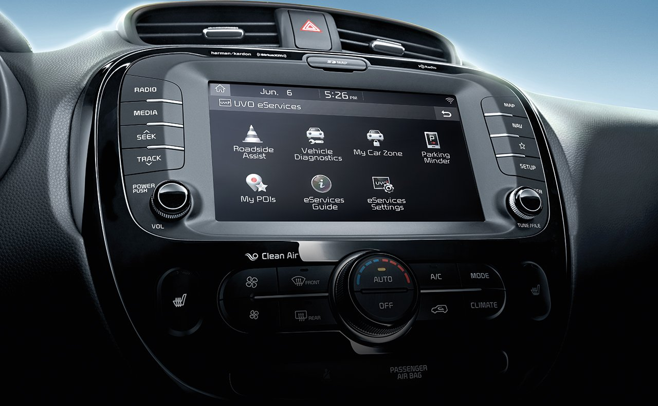Display in the 2019 Kia Soul