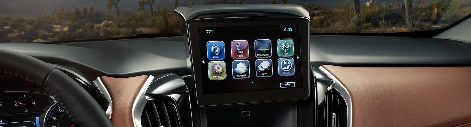 Touchscreen in the 2019 Traverse