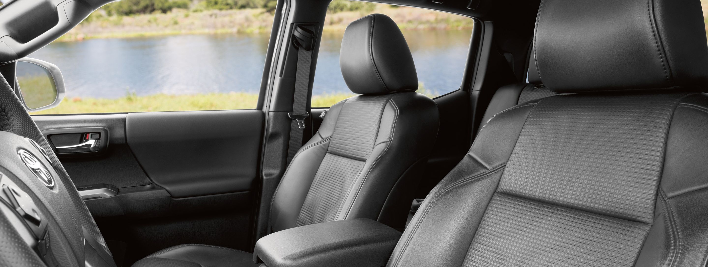 Accommodating Front Row of the 2019 Toyota Tacoma