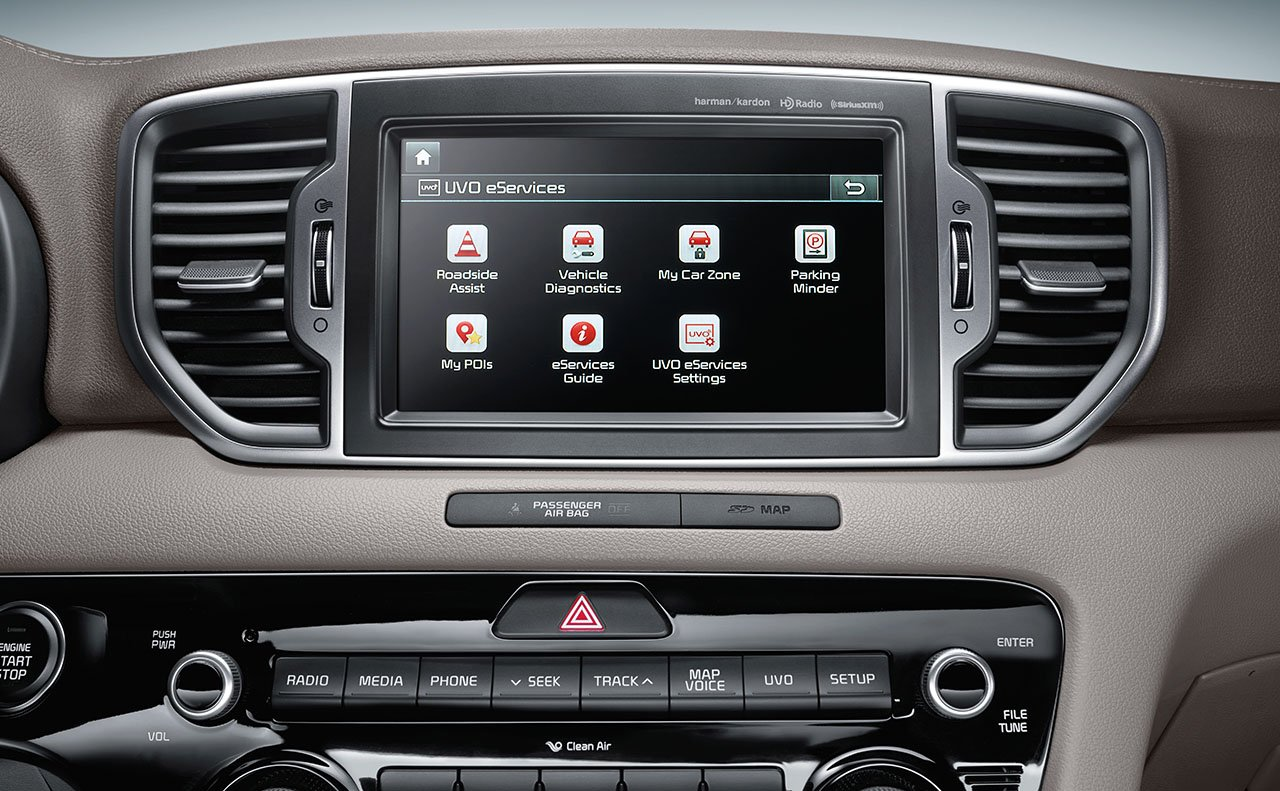 Touchscreen Display in the 2019 Sportage