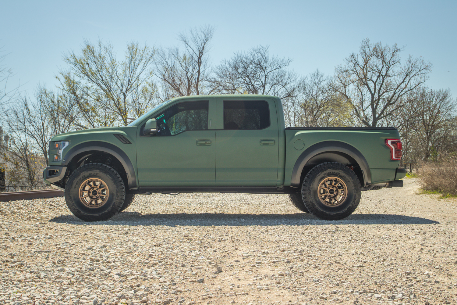 Ford Raptor Lease >> 2019 Ford F-150 Raptor with Green Kevlar Coating and Gold Method Race Wheels