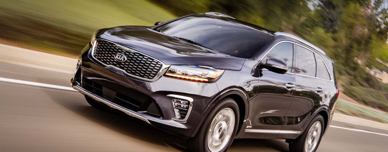 A 2019 Kia Sorento on a quick test drive from a local Allentown